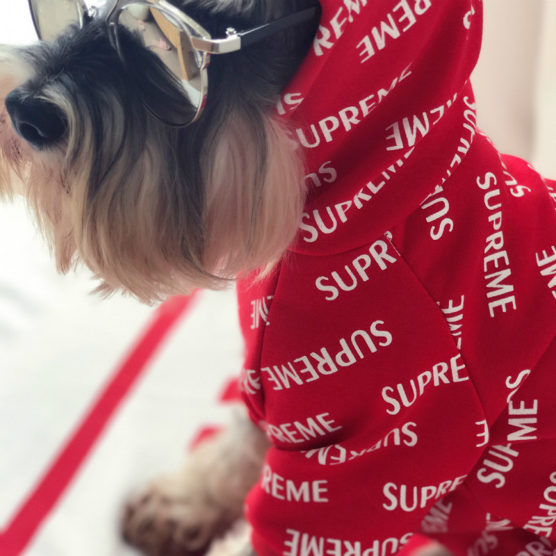 New Cool Pet Cat Dog Red Shirt Vest Puppy Hoodie Clothes Chihuahua Poodle Dogs Tshirt Jacket French Bulldog Puppy Clothes