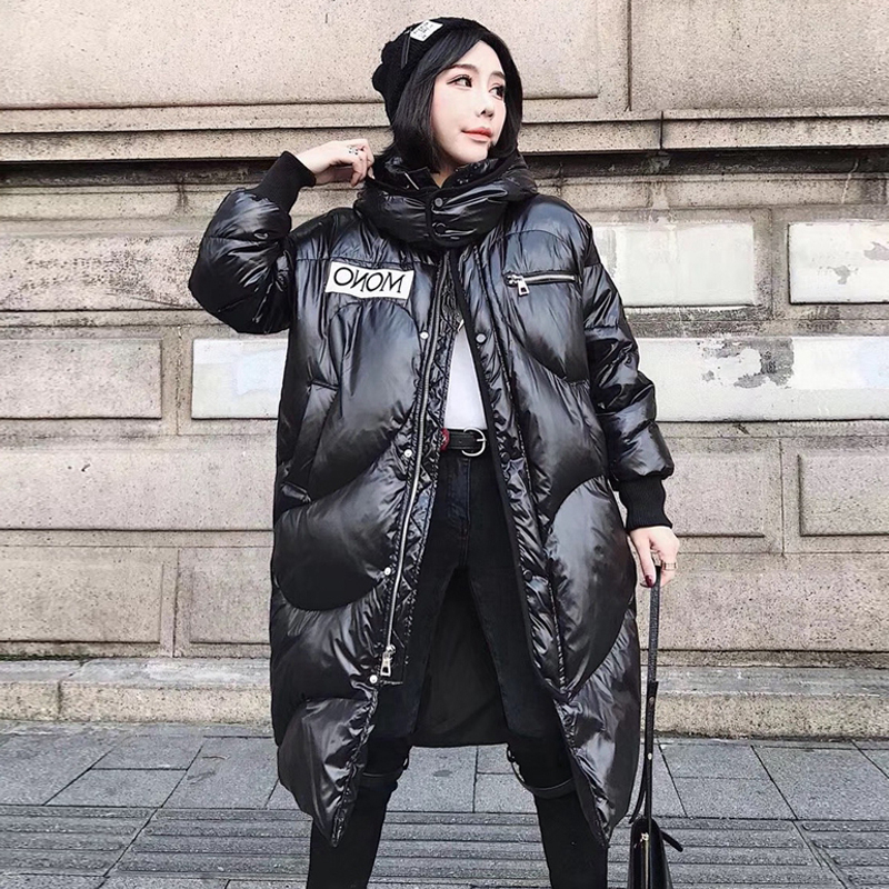 Winter Jacket Women Long Parka Thick Duck   Down   Hooded Jackets Waterproof 2019 Winter   Coat   Women's Warm Parkas For Female Outwear