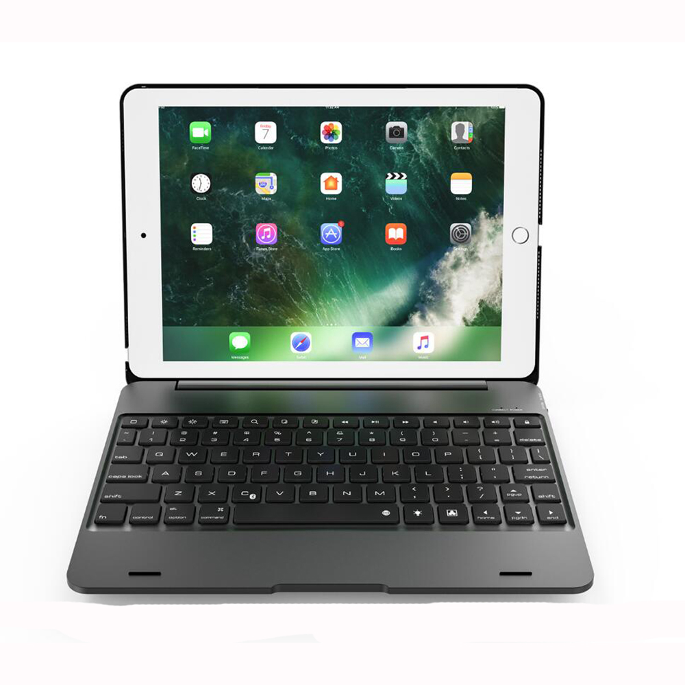 Ipad 9.7 2017 A1893 Wireless Bluetooth Keyboard Case Cover For Ipad 5 / 6 / Air / Air 2 / Pro 9.7 Keyboard+Film+Pen