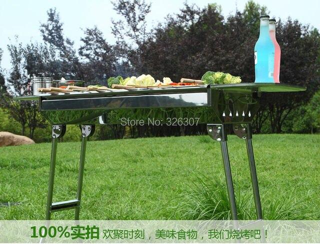 Outdoor Küche Holzkohle : Outdoor grill kochen werkzeuge tragbare herd haushalt edelstahl