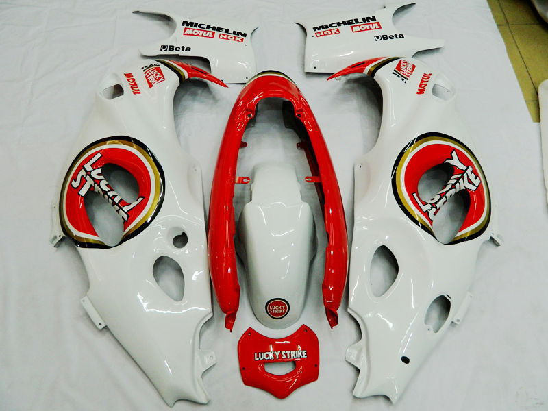 white Lucky ABS <font><b>Fairing</b></font> for <font><b>Suzuki</b></font> GSX600F <font><b>GSX750F</b></font> 97 98 99 00 01 02 03 04 05 06 GSX 600F 750F Katana+7 Gifts image