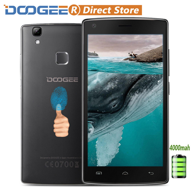 "DOOGEE X5 MAX Pro 4G Fingerprint 4000mAh OTG Smartphone Android 6.0 MTK6737 5.0"" HD IPS Cellphone 2GB+16GB 8MP+8MP Mobile Phone"
