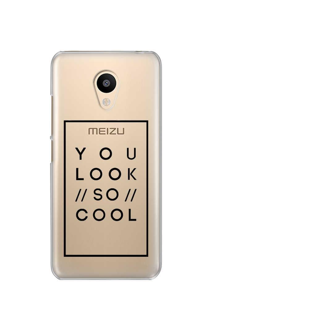 Carta de amor Capas Para Meizu M6 M5 nota Silicona Casos párr caso M5S 5C 3 s nota Pro6 U10 U20 coque estuche Fundas tapa bolsas celular