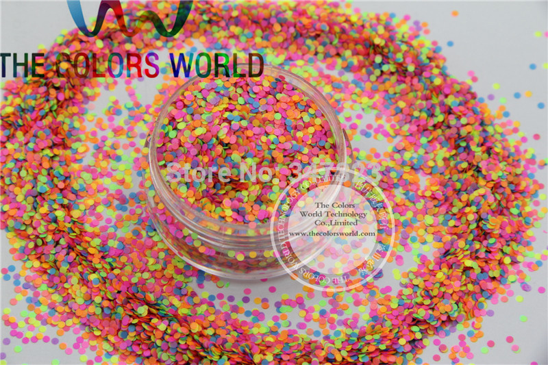 RN1-53 Mix 1MM Neon Color Solvent Resistant Glitter Dot Circle shape Glitter for Nail Polish Acrylic,  DIY supplies1pack=50g dn2 39 mix 2 3mm solvent resistant neon diamond shape glitter for nail polish acrylic polish and diy supplies1pack 50g