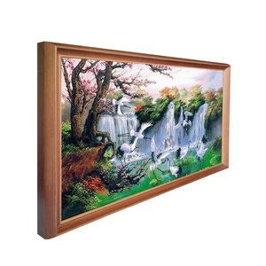 Image 2 - 49 pulgadas marco de madera maciza digital publicidad reproductor marco de fotos electrónico para museo de arte