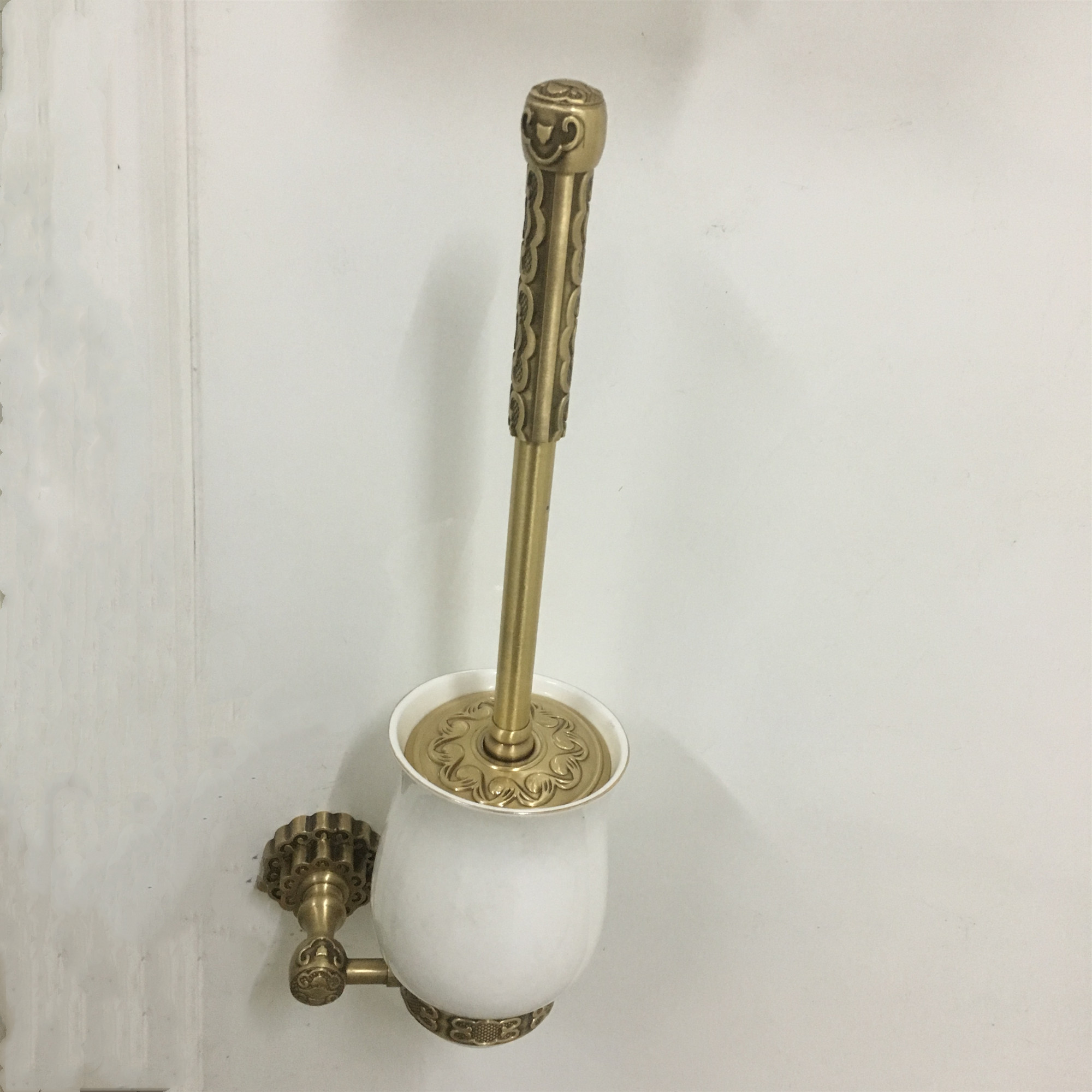 Toilet Brush Holders Antique Wall Mounted Bathroom Accessories Brass Bathroom Decoration Accessory Bathroom Products 10709F