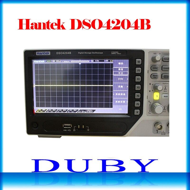 DSO4204B Hantek USB Osciloscópio De Armazenamento Digital de 4 Canais analógicos 200 MHz de largura de banda 1GSa/s Comprimento de Registro 64 K USB AC110-220V