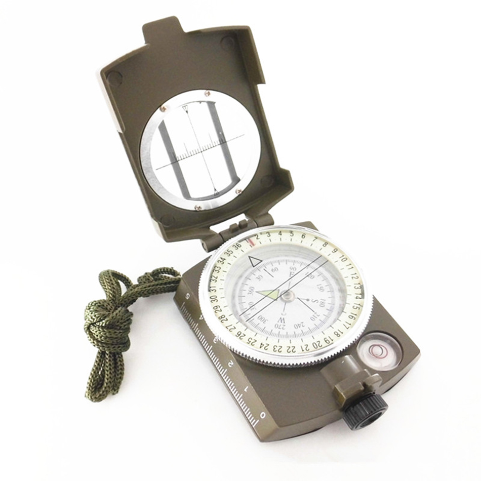 High Sensitive K4580 Compass American All Metal Folding Foldable Multifunctional Military Outdoor Field Hiking Camping Luminous
