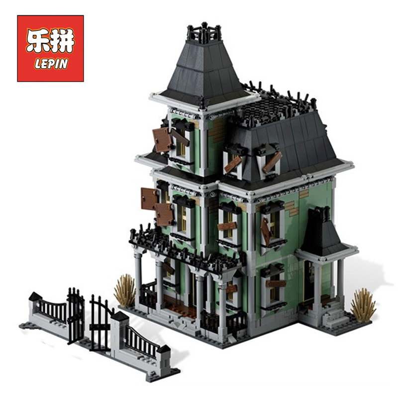 Lepin Movie Series Monster Fighter the Haunted House Building Blocks Bricks 10228 Children Educational Toy Christmas lepin 16007 the monster next door