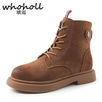Whoholl Winter Hot Selling Female Women Boots Two Colour Black Brown Botas Hot Selling China Brand