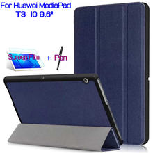 AIYOO Magnetic Stand PU Leather Cover Shell Funda Case for Huawei MediaPad T3 10 9.6