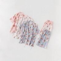 CEARPION Sweet Cute Girl Elegant 2 Pcs Shirt+shorts Sleep Wear Summer Cotton Women Pajamas Suit Casual Daily Home Clothes