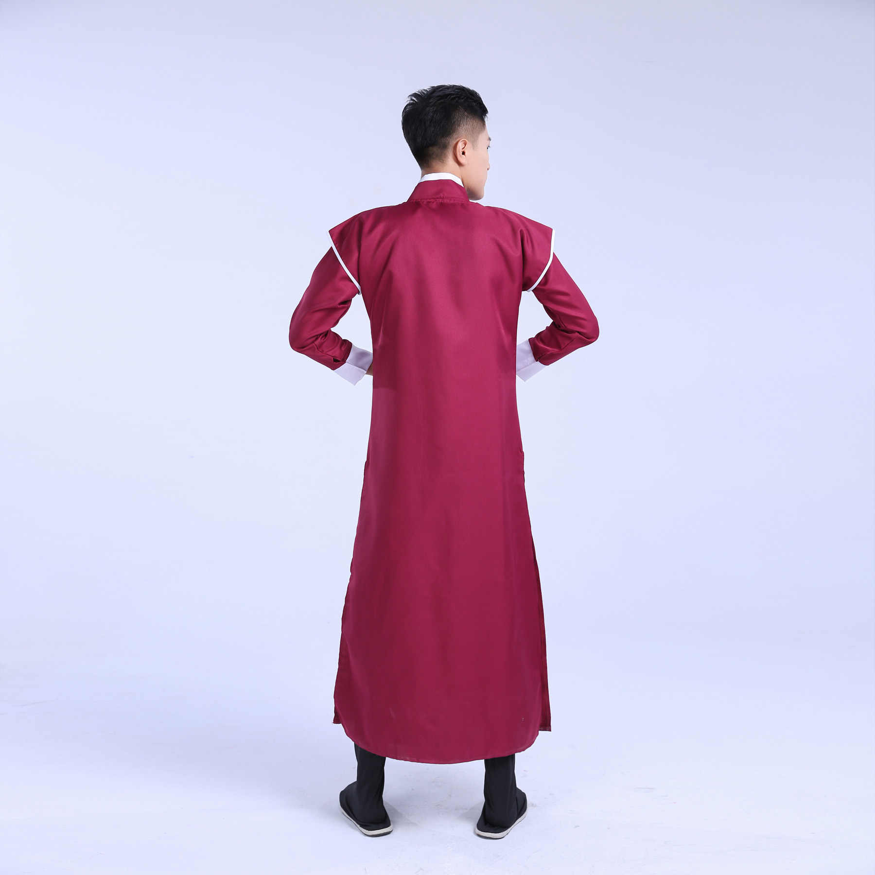 Nazionale Rosso Intrattenimento Musiche E Canzoni Costume per Gli Uomini Tradizionale Dinastia Tang Abbigliamento per Performance Sul Palco Cosplay Costume Danza Popolare