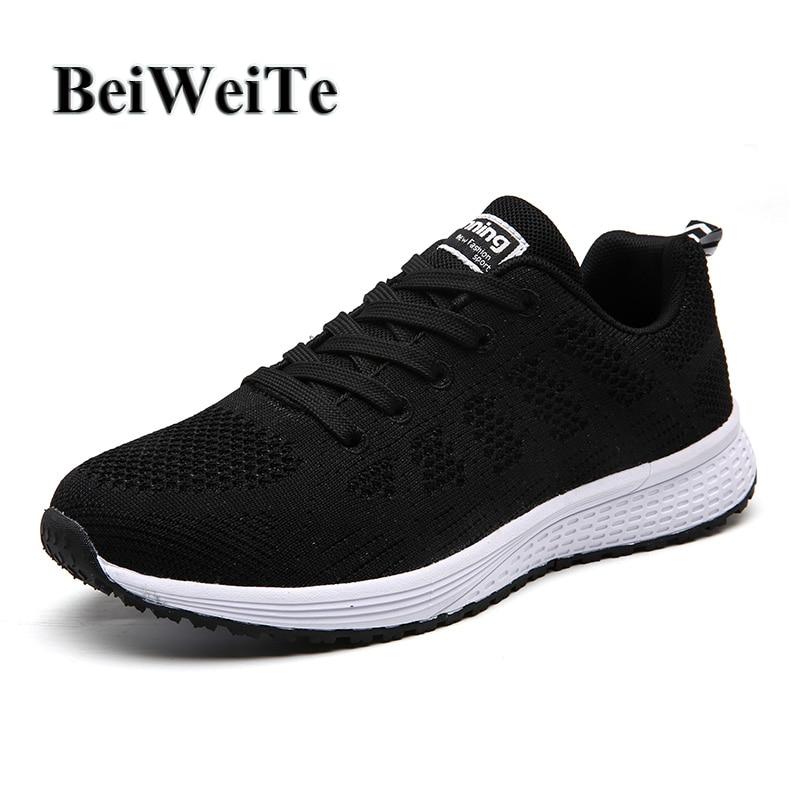 3504e57dda5 BeiWeiTe Καλοκαιρινά αθλητικά παπούτσια ατόμων Flyknit Αναπνεύσιμα ...