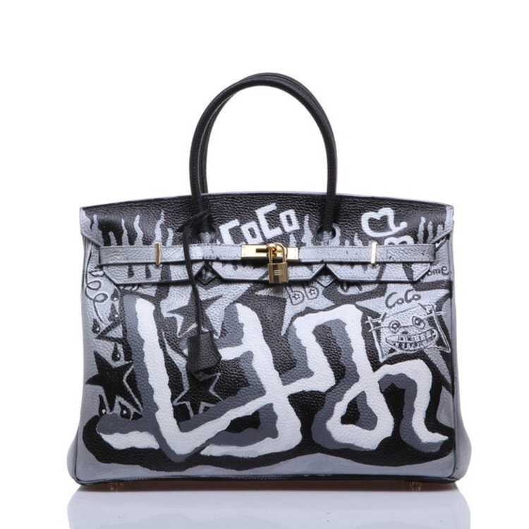 2016 New winter hit color female package graffiti painted Europe portable platinum handbags big bag Mummy luxury women large bag