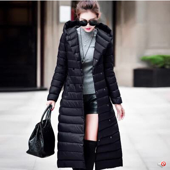 winter jacket women 2016 new style coat overcoat europe brand fashion big size white duck  warm long jackets and coats AW0060