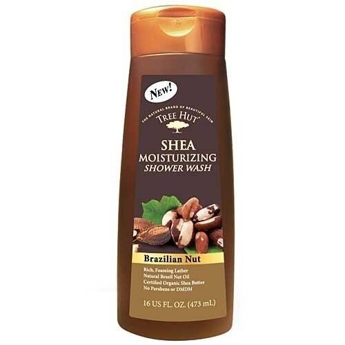 Tree Hut Shea Moisturizing Shower Wash, Brazilian Nut, 16-Ounce (Pack of 2)