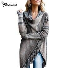 2017 Wanita Tidak Teratur Rajutan Top rumbai Sweater Kardigan Sueter Mujer Fashion Wanita Vintage Ethnic pullover Musim Semi Musim Gugur 2 memakai