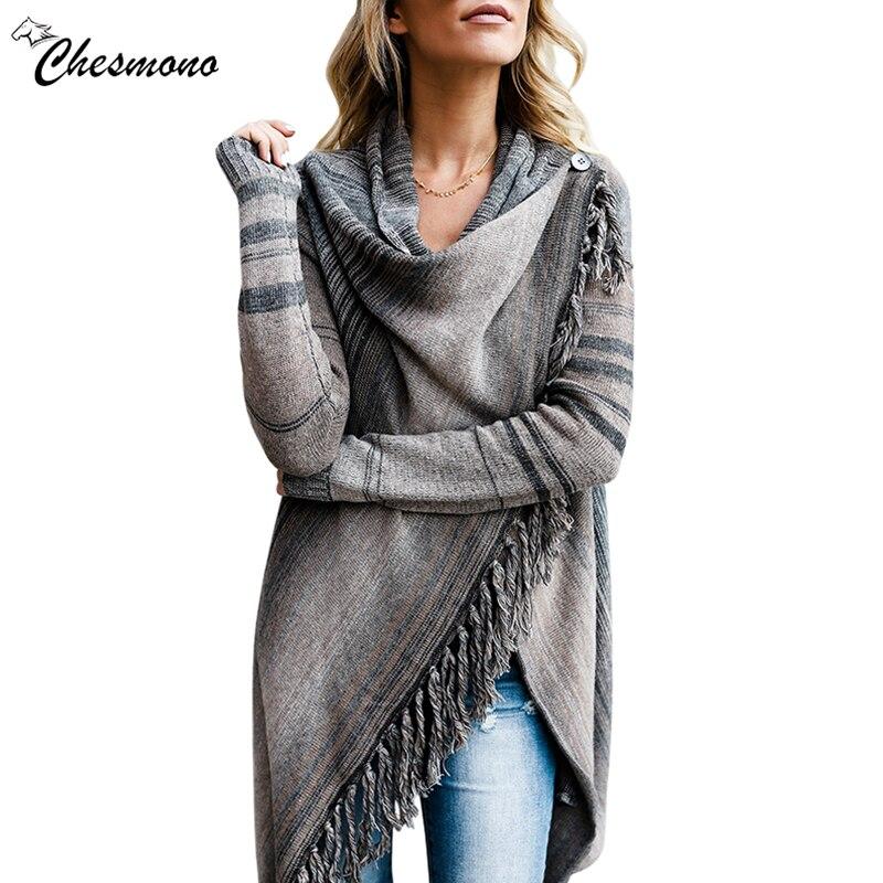 2017 Senhoras Irregular Top De Malha borla Camisola Cardigan Sueter Mujer Moda Feminina Vintage Étnico bordado Primavera Outono 2 desgaste