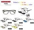 2016 de diseño de moda unisex magnética clip en gafas de sol polarizadas TR90 súper ultra-ligero marco de anteojos ópticos Google imán