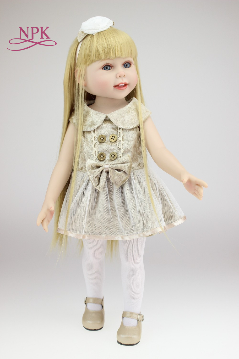 NPK Boneca Reborn Silicone 2018 New Arrival 1/4 Bjd Doll For Sd Lovely Resin With Makeup For Baby Girl Birthday Present
