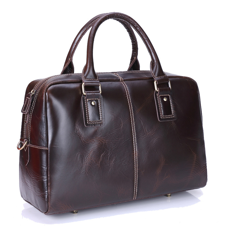 New Genuine leather men bag Vintage male Business handbag Natural leather High quality Laptop bags Large capacity handbags men messenger bags high quality soft pu leather handbag for men large capacity travel bags business top vintage male crossbody