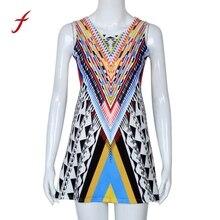 Yeni Tasarım Kadin Modern Baskılı Süper Kısa Kolsuz Kulübü Elbise 160630 eb9a61c31c32
