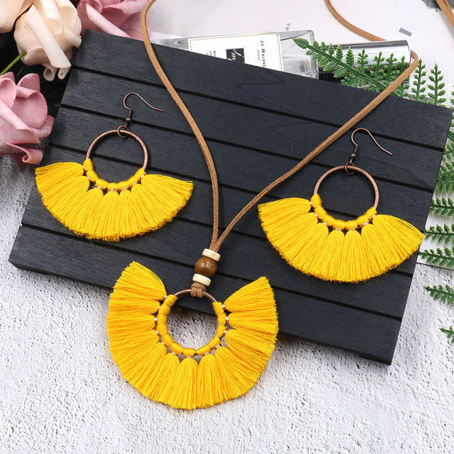 Tassel Necklace Earrings...