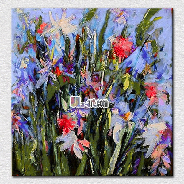 Simple Flower Canvas Painting High Quality Reproduction Hand Made Flowers Oil Modern Decoration Gifts In Calligraphy From Home Garden