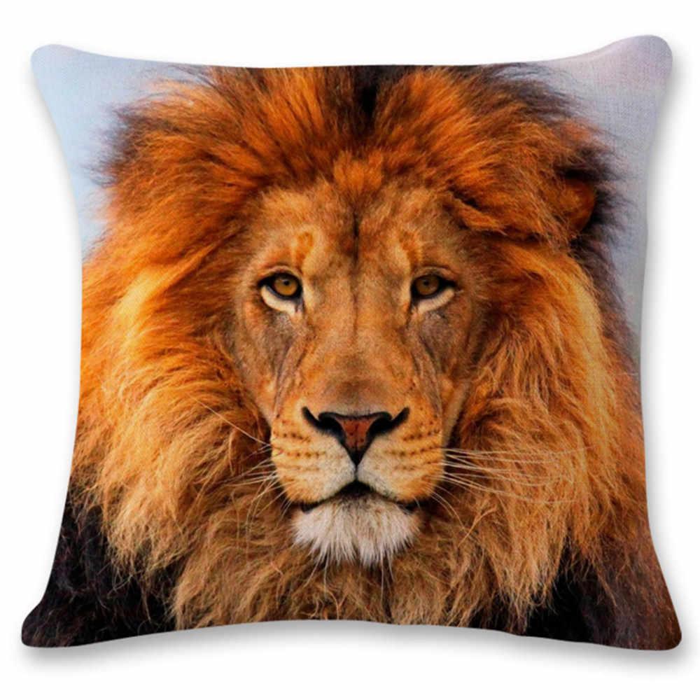 Симпатичные Тигр шаблон наволочка кровать дома фестиваль наволочки Многоузорный наволочка челнока наволочка