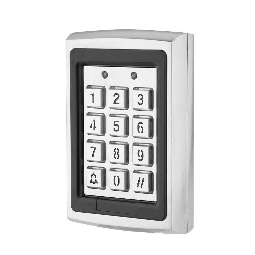 Gate Opener Door Lock 125KHz Access Control Keypad Controller PIN Code RFID Card With Waterproof,Backlit Keyboard,Metal Case