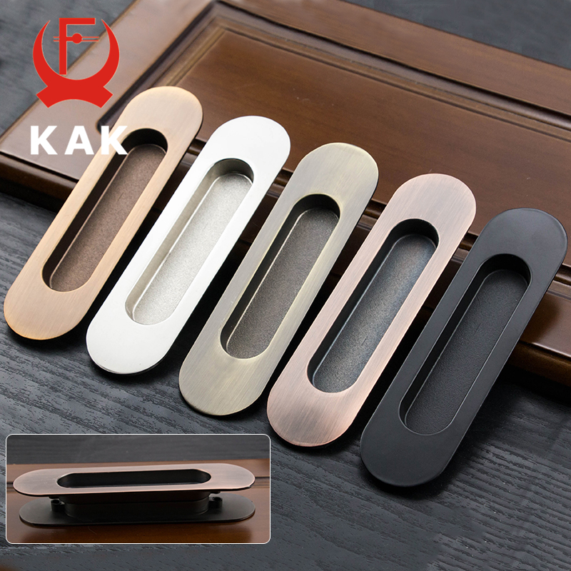 KAK 2PCS Hidden Door Handles Zinc Alloy Recessed Pull Sliding Door Handles Bedroom Door Cabinet Handle Furniture Handle Hardware new 2pcs lot 304 stainless steel handles hidden recessed invisible pull fire proof door handles cabinet knobs furniture hardware