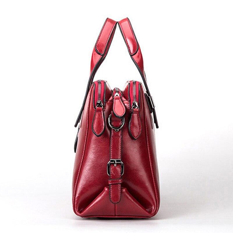 Dames Bandoulière Femmes En Marque Sacs marron rouge Haute Cuir Qualité À rose Totes Main Noir Messenger Vache Sac Véritable De Luxe Designer EPq0Xwq