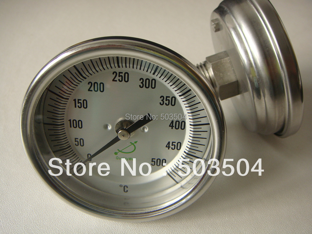0 500C thermometer 3 quot Dial Back Connection 1 2NPT thread SS304 material in Temperature Instruments from Tools
