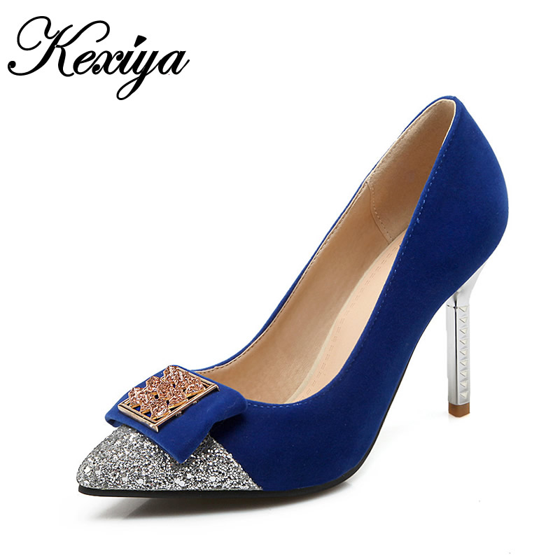 2016 New Spring/Autumn red women pumps plus size 33-42 fashion Pointed Toe Slip-On ladies wedding high heel shoes HDH-A-438 new 2017 spring summer women shoes pointed toe high quality brand fashion womens flats ladies plus size 41 sweet flock t179