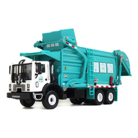 1:24 Alloy Garbage Truck Toy Car Model Diecast Engineering Material Transport Vehicle for Kids Collection Display