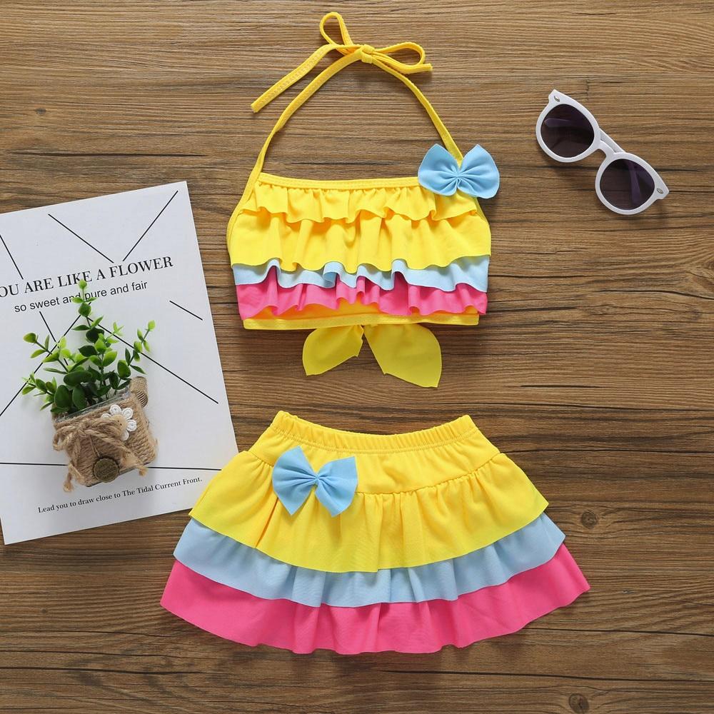 Imported From Abroad Swimwear Girl 2pcs Infant Kids Baby Girls Strap Swimwear Swimsuit Bathing Bikini Set Outfits Summer Swimwear-separate Suit 2018 Mother & Kids