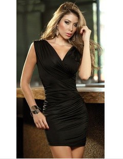 Hot Sale Women Sexy Party Dress Club Short Mini Dress Bodycon Club Dress  Color Free Shipping
