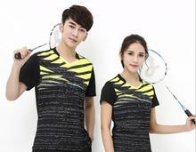 Nowe Badminton Sport koszule gra szkolenia Jersey pary Unisex tenis stołowy i T-shirty Darmowa wysyłka tanie tanio Pasuje do rozmiaru Weź swój normalny rozmiar M-4XL Poliester M-3XL