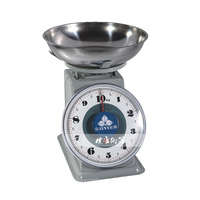 Hot 8kg 10kg Stainless Steel Mechanical Scales Household Kitchen Scales With Tray Vintage Retro Weegschaal Without Batteries