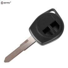 KEYYOU – clé télécommande à 2 boutons housse coque gousset, pièce de rechange pour SUZUKI Grand Vitara Swift SX4 VAUXHALL AGILA