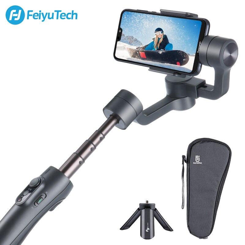 Feiyutech vimble 2/vlog bolso estabilizador 3-axis handheld smartphone gimbal extensão pólo tripé para câmera de ação de iphone gopro
