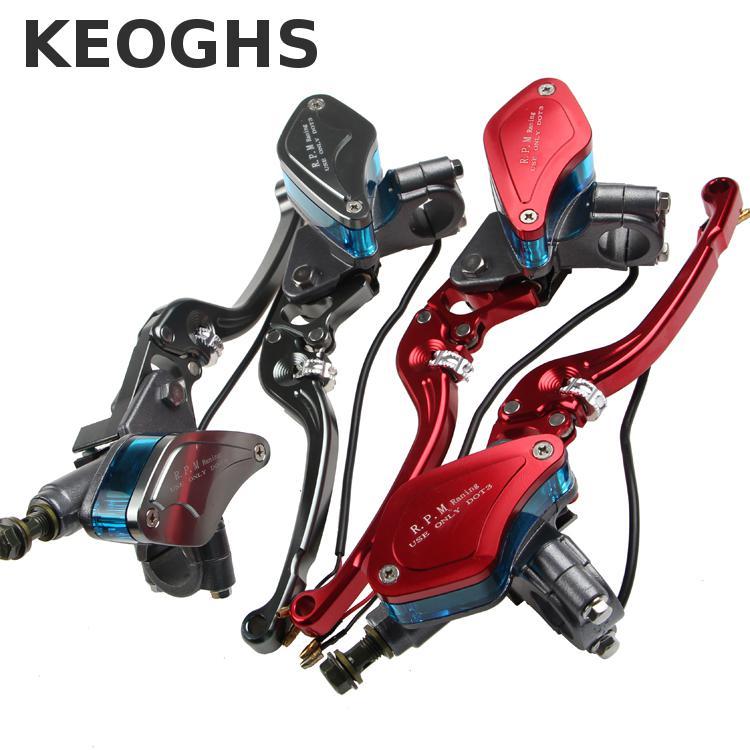 Keoghs Motorcycle Brake Master Cylinder 12 7mm Piston Size Visible Reservoir For 22mm Handlebar For Yamaha
