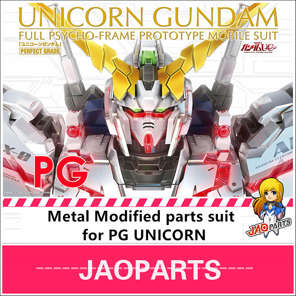 JAOparts Metal Modified Parts Set For Bandai PG 1/60 RX-0 Unicorn Gundam DJ006