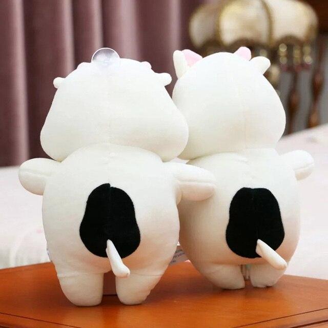 Mignon vache animaux poupées 25 cm doux en peluche jouets belle anniversaire cadeau pour enfants coussin jouet
