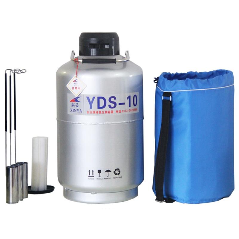 Pot de crème glacée fumée 10L contenant de l'azote liquide réservoir cryogénique de haute qualité Dewar pot de beauté d'azote liquide YDS-10