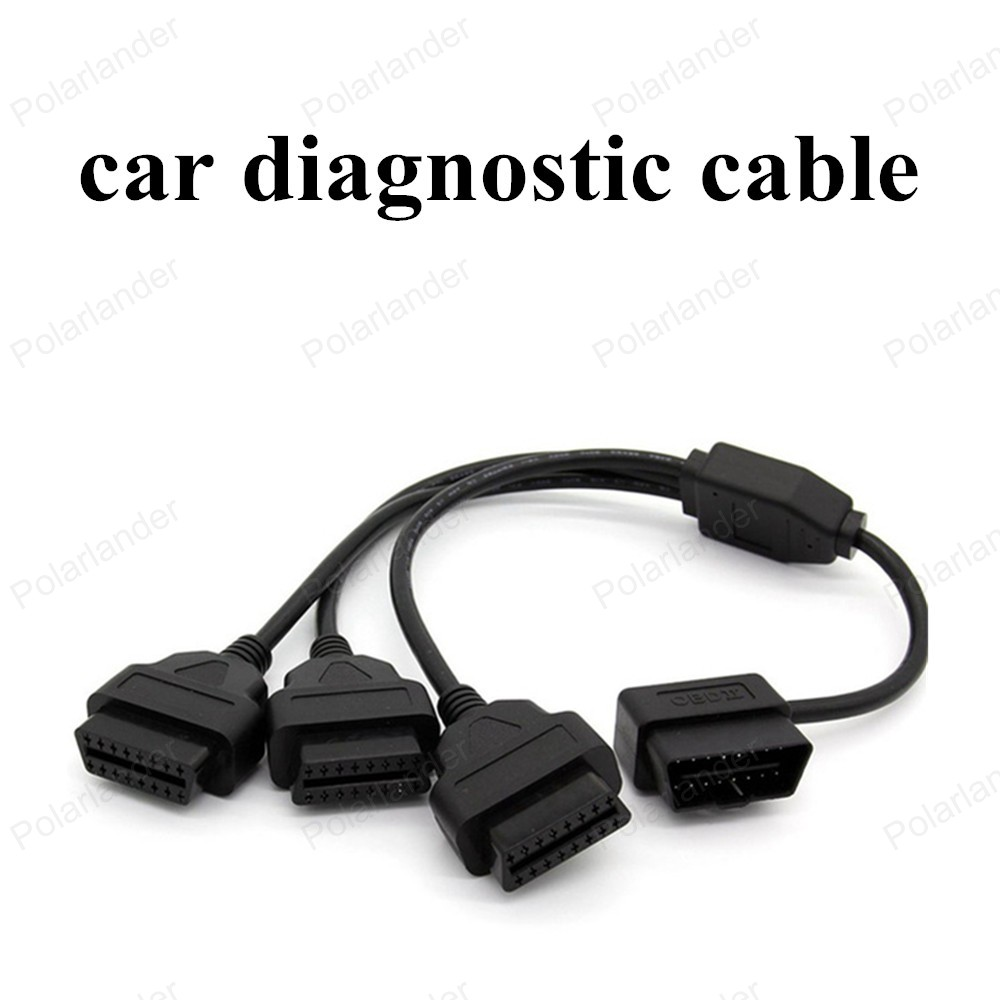 Hot Sell 50cm Obdii Cable Obd Interface Car Adapter Connector 16 Sata Signal And Power Molex One Combo To Connect Pin Pick 1 Male Three Female