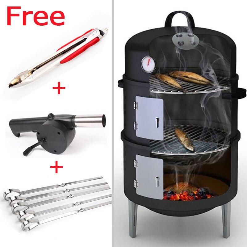 Taille Portable en acier Barbecue Barbecue gril Compact charbon de bois Barbecue gril brosse pour extérieur Barbecue accessoires pince pince
