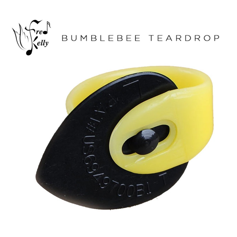 Fred Kelly Pick Delrin Bumblebee Jazz / Tear Drop Guitar Pick