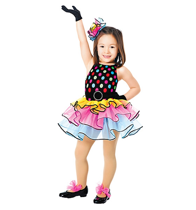 Modern Dance Ballet Dance Costumes For Children Costumes Bright Color Tutu Skirt Stage Performance Clothing